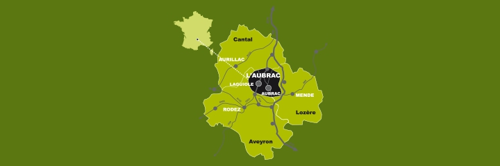 Map of Aubrac-Laguiole